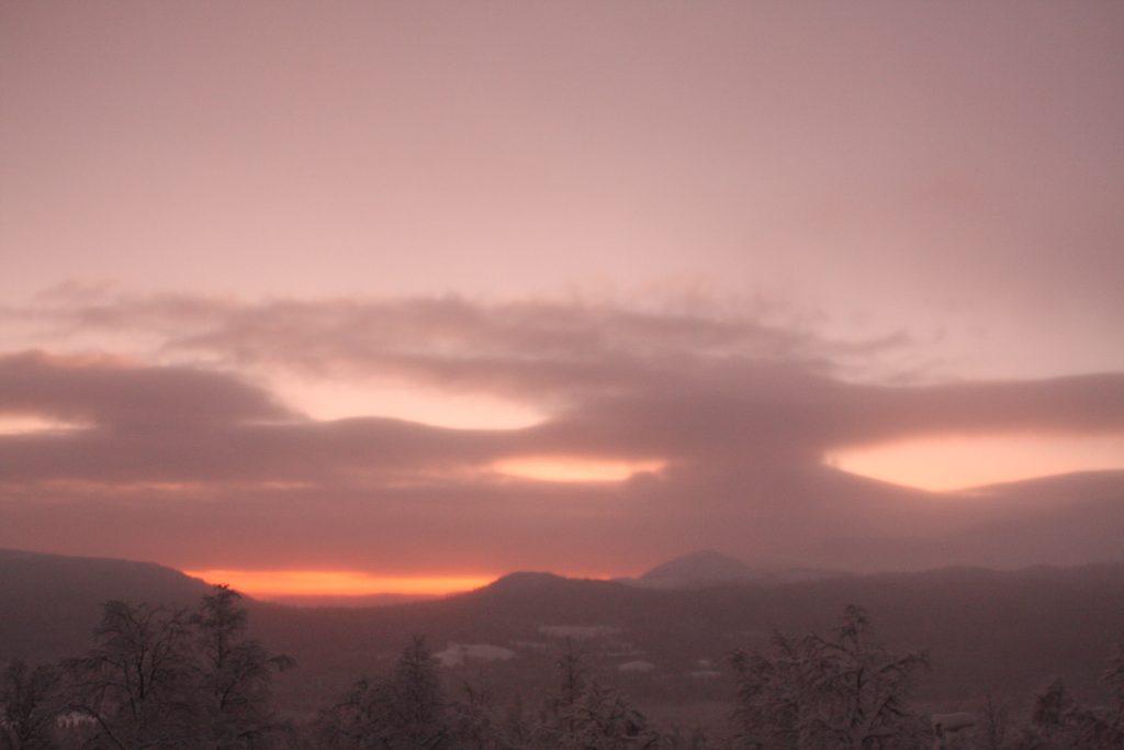 Bild Kittelfjäll soluppgång
