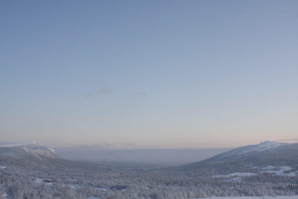 Utsikt från Hotell Kittelfjäll