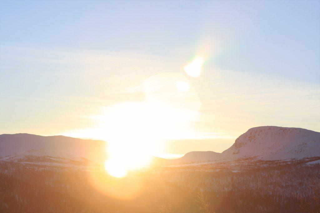 Soluppgång Kittelfjäll