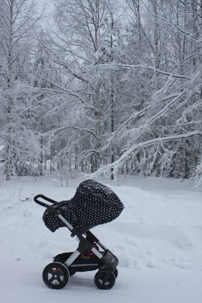 Stokke trialz vinter snö norrland