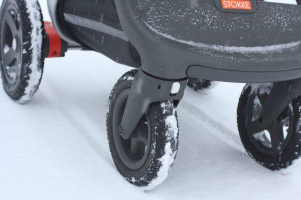 Stokke trailz vinter snö däck