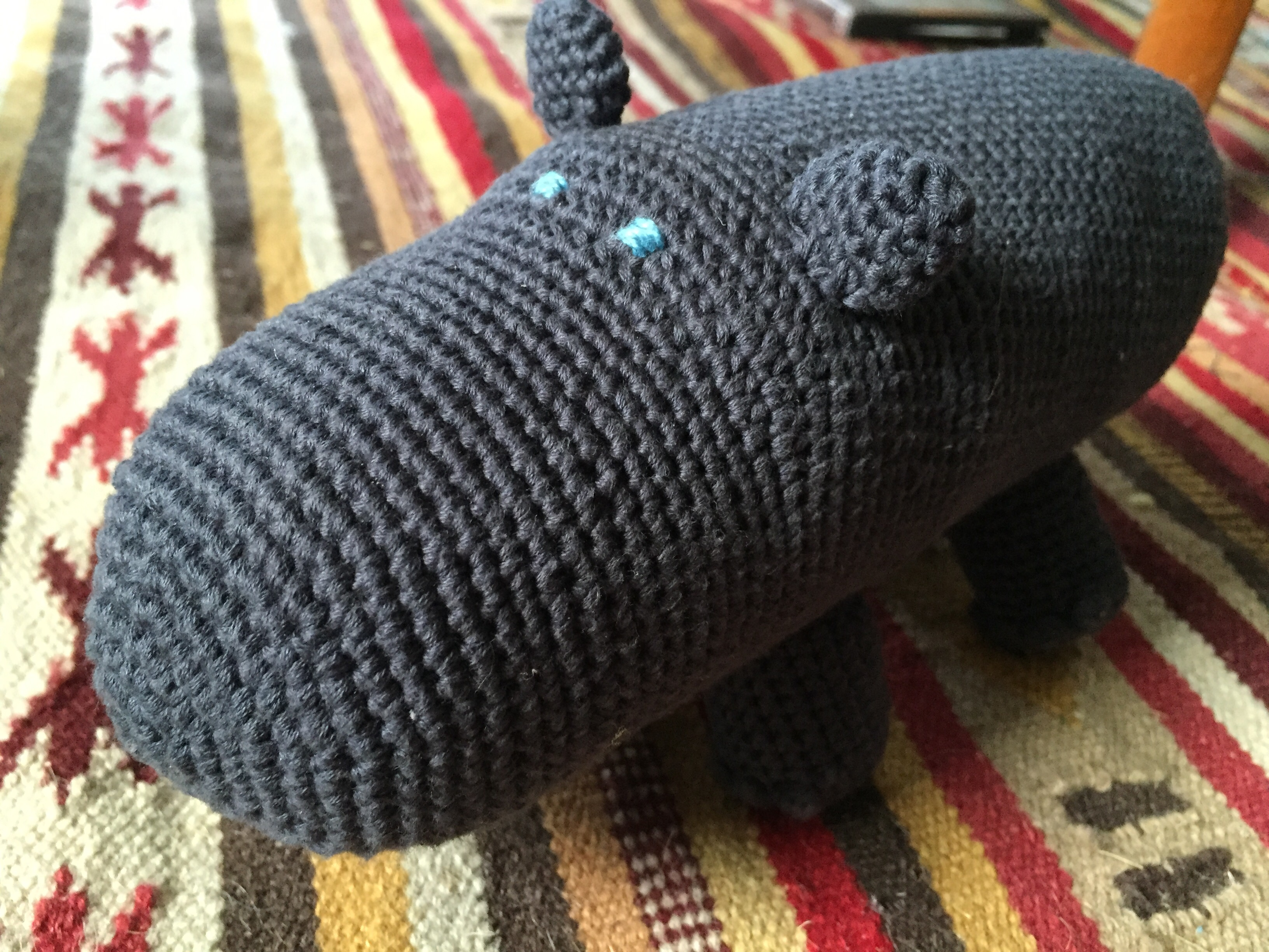 amigurumi virka flodhäst hippo