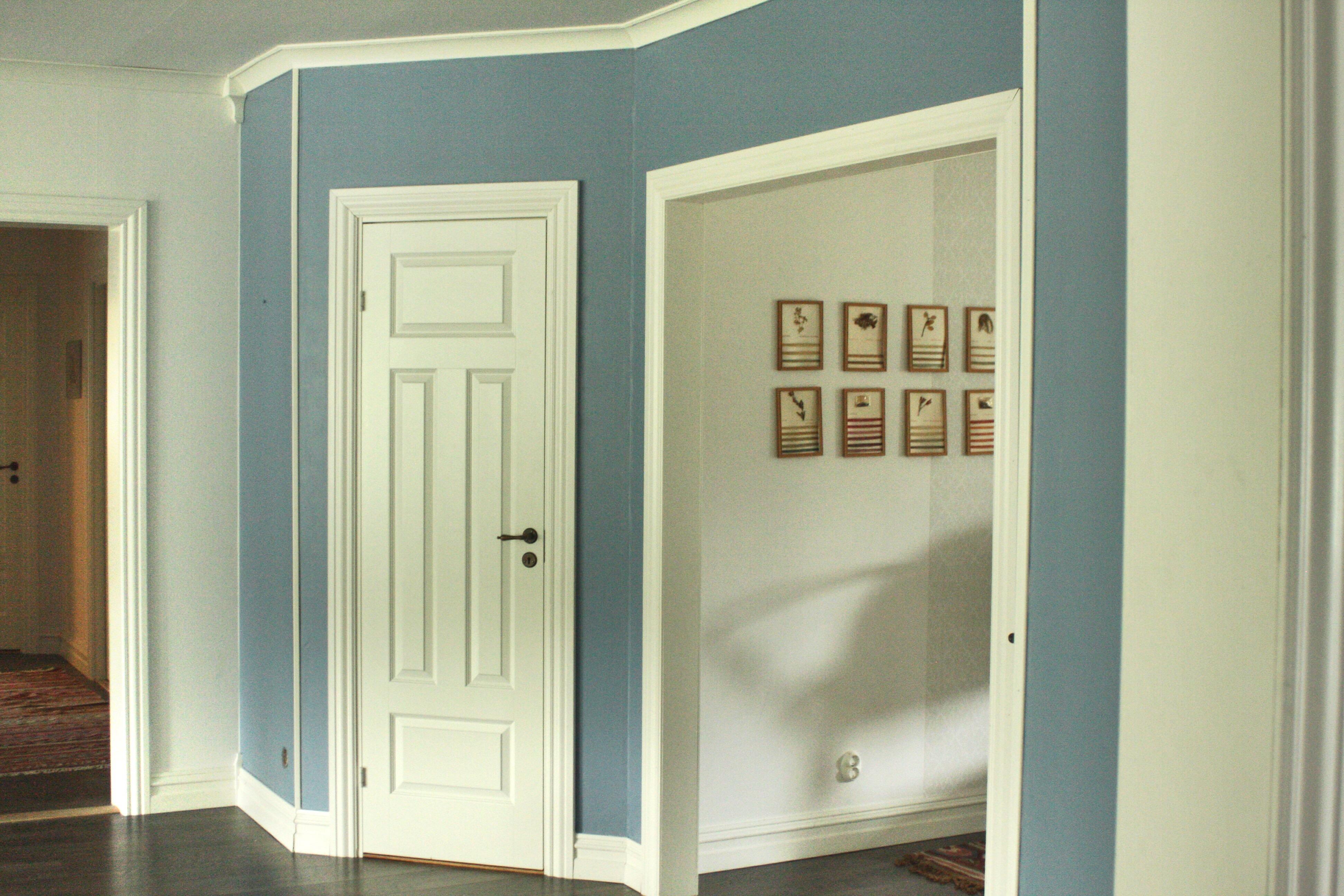 måla vardagsrum blått