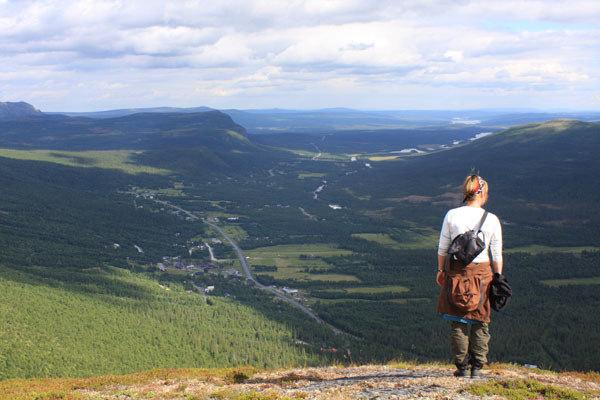 Utsikt över Kittelfjäll