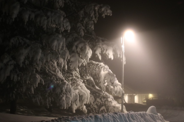 Mycket snö i Norrbotten